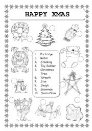 christmas vocabulary worksheets. Black Bedroom Furniture Sets. Home Design Ideas