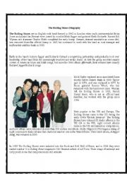 English Worksheet: The Rolling Stones_History (Jigsaw: Student B)