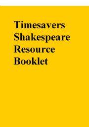 English teaching worksheets: William Shakespeare