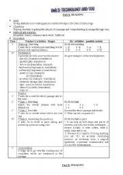 English Worksheets: plesson plan 10