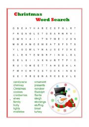 christmas printable word search a to z teacher stuff printable