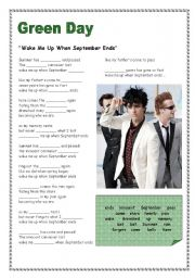 English Worksheet: Green Day -