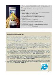 English Worksheet: The Internet - reading tasks + modals + writing (giving advice) + Key