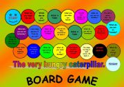 English Worksheets: The very hungry caterpillar board game