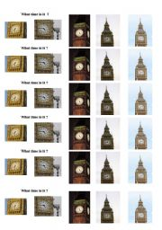 English Worksheet: Big Ben ... What time is it ?