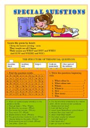 English Worksheets: Questions