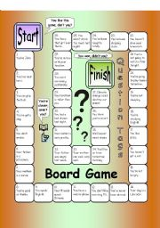 English Worksheet: Board Game - Question Tags