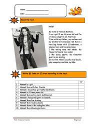 English Worksheets: famous singer