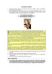 English Worksheets: DESCRIBING A PERSON