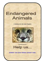English Worksheet: Webquest Endangered Animals