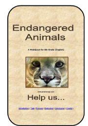 English Worksheets: Webquest Endangered Animals