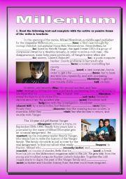English Worksheets: Millenium