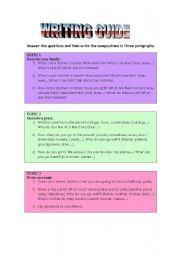 English Worksheets: Writing guide
