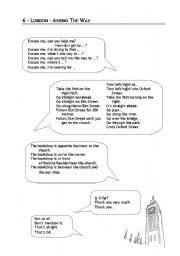 English Worksheet: dialogues asking the way