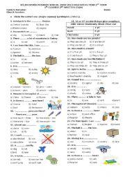 English teaching worksheets: 5th grade