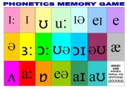 PHONETICS MEMORY GAME (2 PAGES)