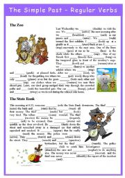 English Worksheet: Simple Past Tense - Regular Verbs
