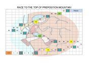 English Worksheet: RACE TO PREPOSITION MOUNTAIN