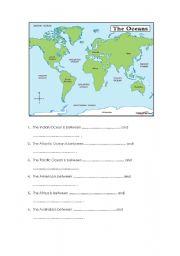English Worksheet: Oceans