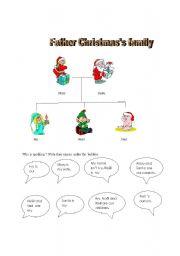 English worksheet: Father Christmas´s family