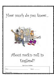 English Worksheet: Jigsaw Worksheet About Rock Bands!