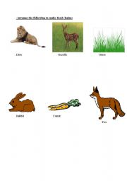 English Worksheets Life Cycles And Food Chain Unit Test