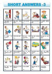 English Worksheets: SHORT ANSWERS 3