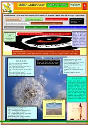 English Worksheets: BLOWING IN THE WIND - BOB DYLAN - PART 01
