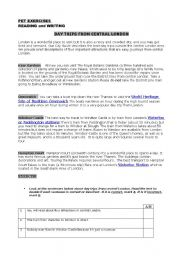 English Worksheets: PET EXERCISES 1