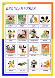 English Worksheet: regular verbs 2 (08.12.09)