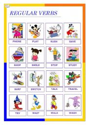 English Worksheet: regular verbs 3 (08.12.09)