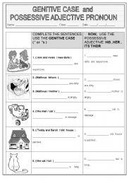 English teaching worksheets: Genitive case