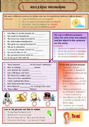 English Worksheet: REFLEXIVE PRONOUNS
