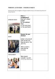 English Worksheet: Unemployment - Guided Writing