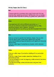 English Worksheets: Targets