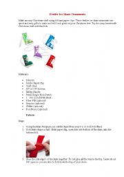English worksheet: Festive Ice Skate Ornaments-Christmas-do it yourself