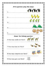 English Worksheets: (how many)