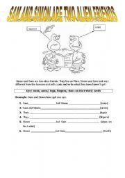 English Worksheets: Simon and Sam