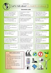 English Worksheet: Let�s Talk about CLIMATE CHANGE