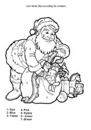 English teaching worksheets Christmas coloring
