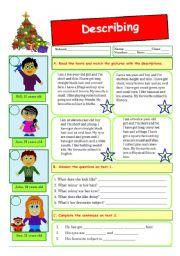 English worksheet: Describing people (09.12.09)