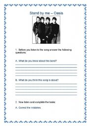 English Worksheets: Stand by me - Oasis