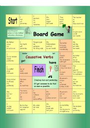 Board Game - Causative Verbs (Have something done)