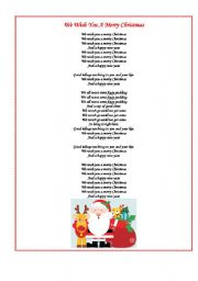 Remarkable Esl Worksheets For Beginners We Wish You A Merry Christmas Easy Diy Christmas Decorations Tissureus