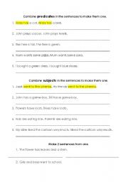 English Worksheets: Combining sentences