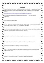 english worksheets halloween mini web quest - Halloween Web Quest