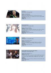 English Worksheet: movie kinds/genres
