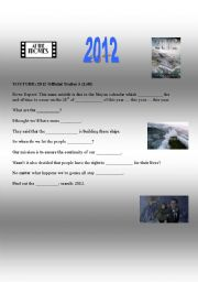 English Worksheets: 2012 movie trailer