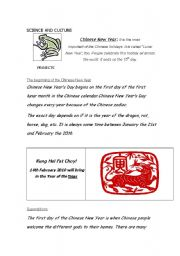 English Worksheet: CHINESE NEW YEAR (1 / 2)