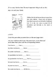English Worksheet: CHINESE NEW YEAR ( 2 / 2 )